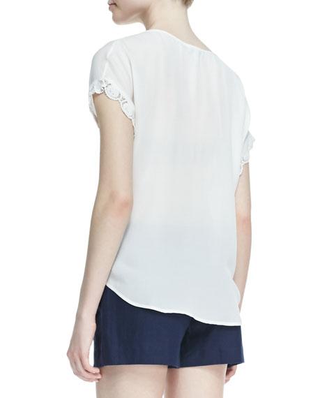 Minella Lace-Sleeve Blouse