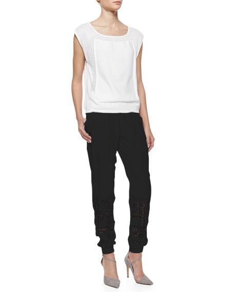 Hemmer Cutout Silk Pants
