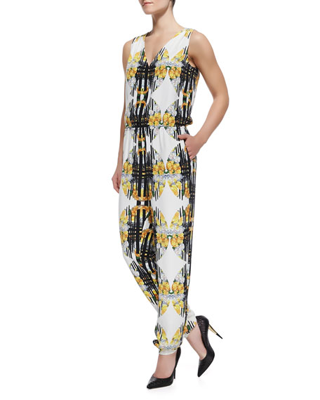 Mara Relaxed Fit Jumpsuit, Casablanca Print