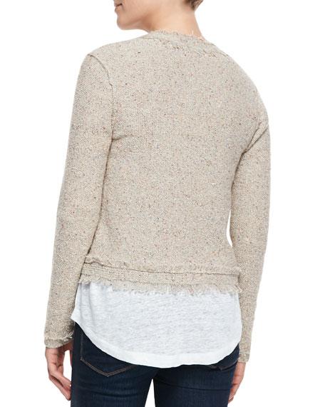 Joie Porsha Fringe-Trim Tweed Jacket