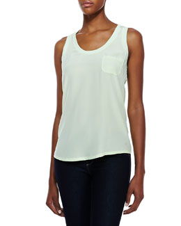 Joie Alicia Silk Pocket Tank