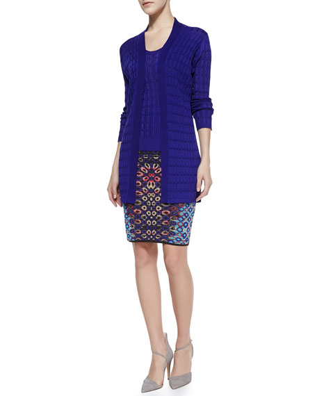 Optical Jacquard Pencil Skirt