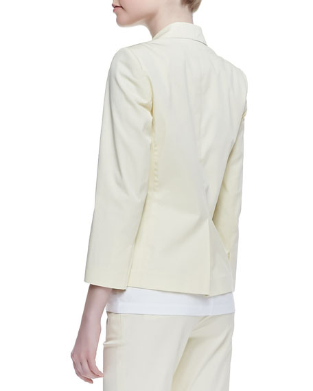 Current Fine Twill Button Blazer, Pale Yellow