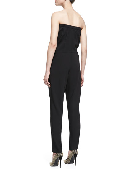 Strapless Structured Crepe Jumpsuit