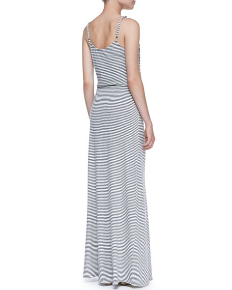 Boxer Striped-Jersey Maxi Dress