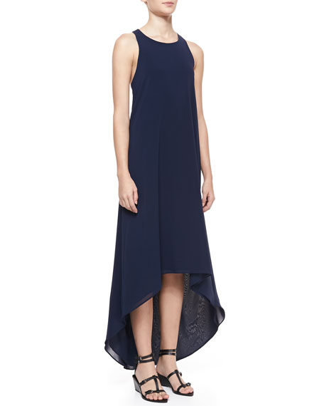 Silk Keyhole Maxi Dress