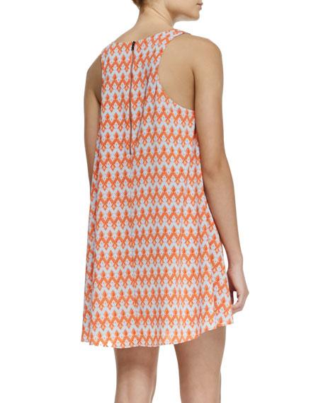 Estelle Printed A-Line Sleeveless Dress