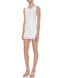 Waverly Grey Gwen Sleeveless Lace Dress, White