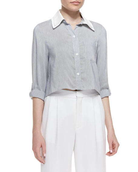 Amy Cropped Boxy Blouse