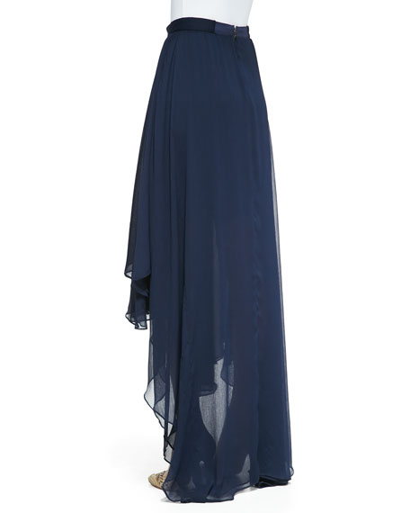 Andy High-Low Chiffon Maxi Skirt