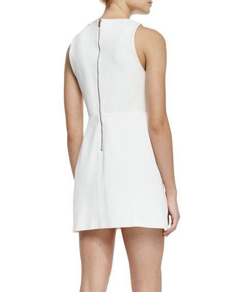 Sleeveless Cutout-Back A-Line Dress