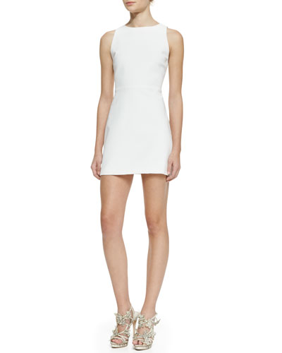 Alice + Olivia Sleeveless Cutout-Back A-Line Dress