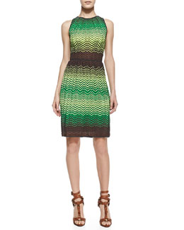 M. Missoni Sleeveless Zigzag Tank Dress