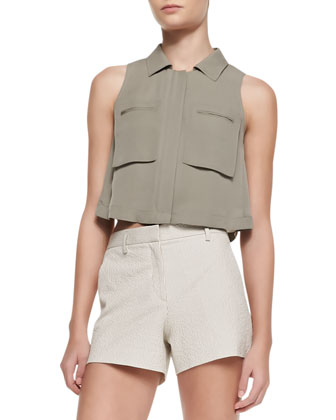 Gemia Cropped Pocket Blouse