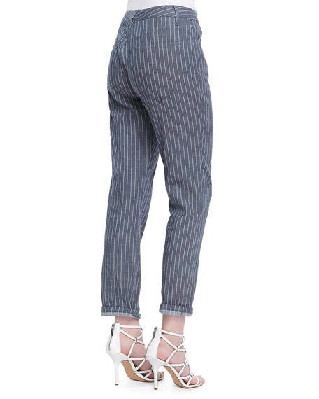 Jordin Pinstripe Cropped Jeans