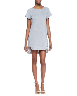 Theory Blounts Short-Sleeve T-Shirt Dress, Heather Gray