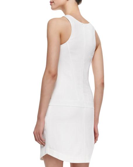 Covina Ponte Rounded-Hem Dress