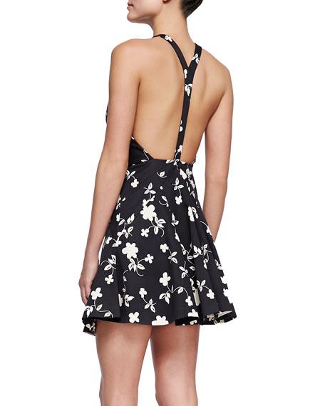 Nelson Floral-Print Halter Dress