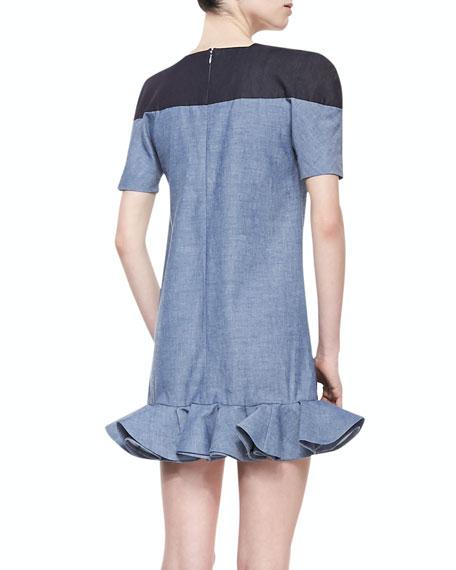 Elle Sasson Sonny Two-Tone Chambray Dress