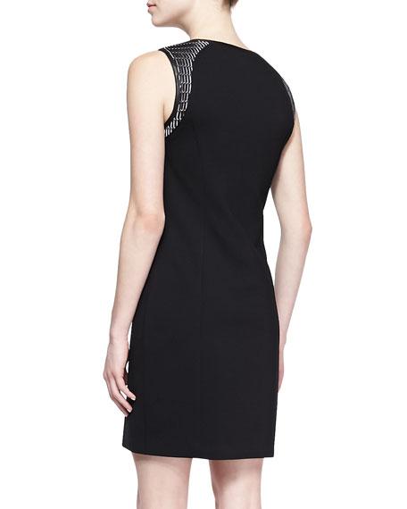 Lexington Leather-Weave Dress