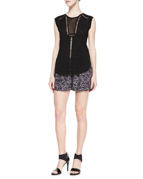 Silk Leopard-Print Shorts