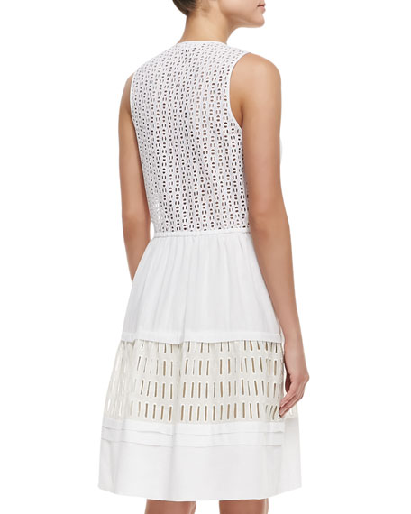 Voile & Lace Drawstring Dress