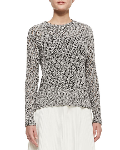 Knit Open Weave-Sweater