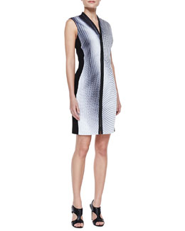Elie Tahari Mercer Printed Zip Dress