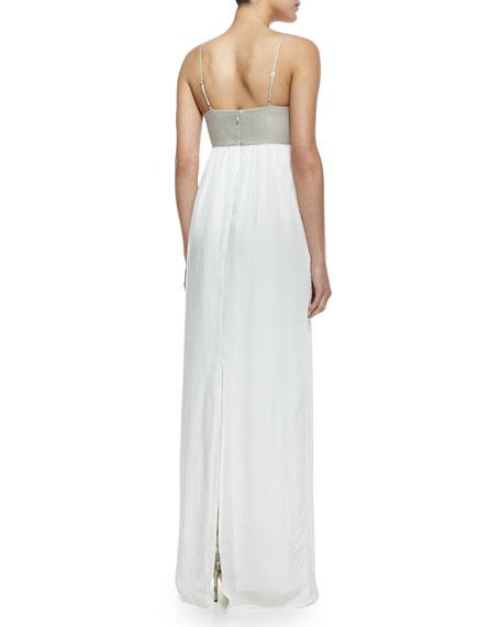 Two-Tone Combo Maxi Dress