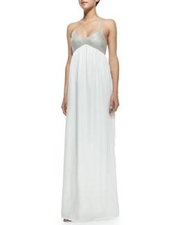 L'Agence Two-Tone Combo Maxi Dress
