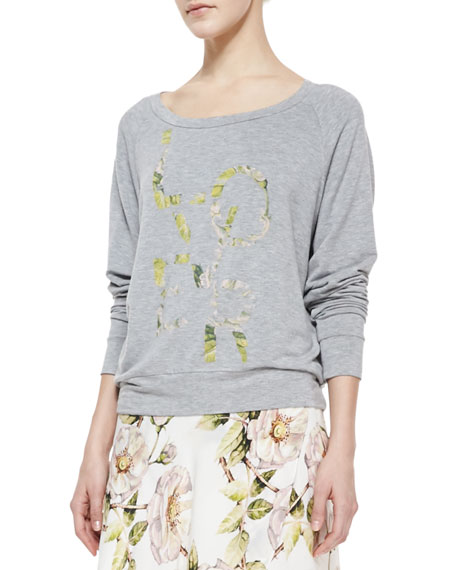 """Lover""-Print Jersey Sweatshirt"