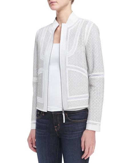 Highland Lambskin Zip-Front Jacket