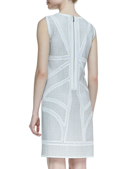 Mulberry Perforated Lambskin Leather Dress
