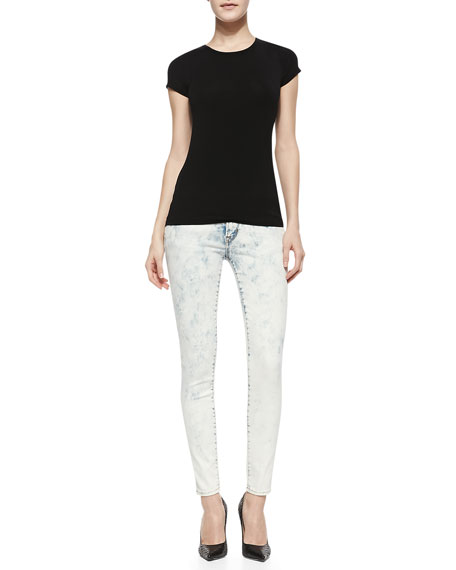 Florence Splash-Blue Skinny-Leg Jeans