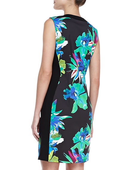 Mila Front-Zip Aruba Print Dress