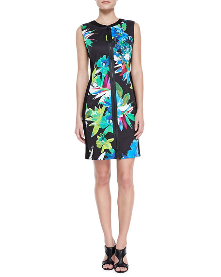 Mila Front-Zip Aruba Print Dress