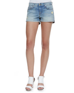 J Brand Jeans Patti Roll Magnetic Denim Cuffed Shorts