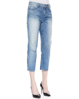 J Brand Jeans Ace Distressed Cropped Boyfriend Jeans