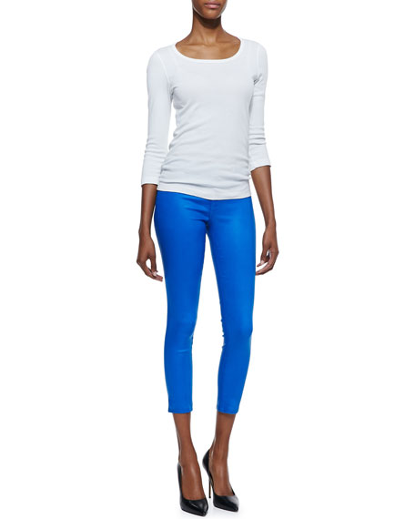 Mid-rise Capri Pants, Lacquered Breakwater Blue
