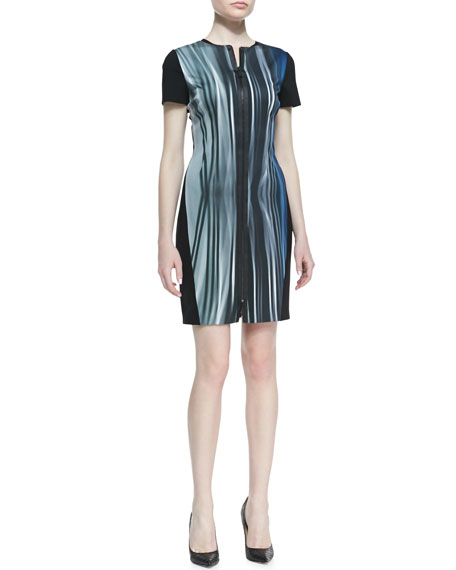 Emory Windswept Front-Zip Dress