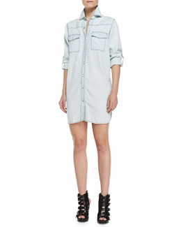 Current/Elliott The Lily Button-Down Shirtdress
