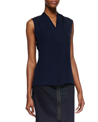 Hayden Silk Sleeveless Blouse