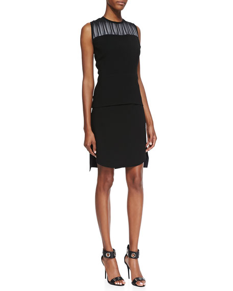 Courtney Jersey Asymmetric Skirt