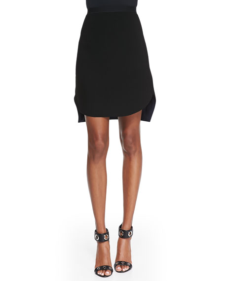 Courtney Jersey Asymmetric Skirt