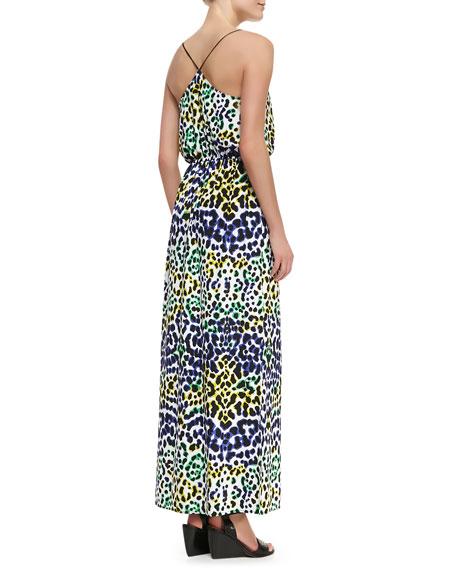 Multi-Leopard-Print Maxi Dress