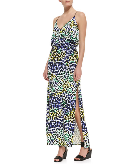 Multi-Leopard-Print Maxi Dress