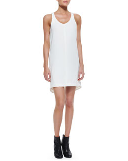 Rag & Bone Chieftain Sleeveless Leather-Trim Dress