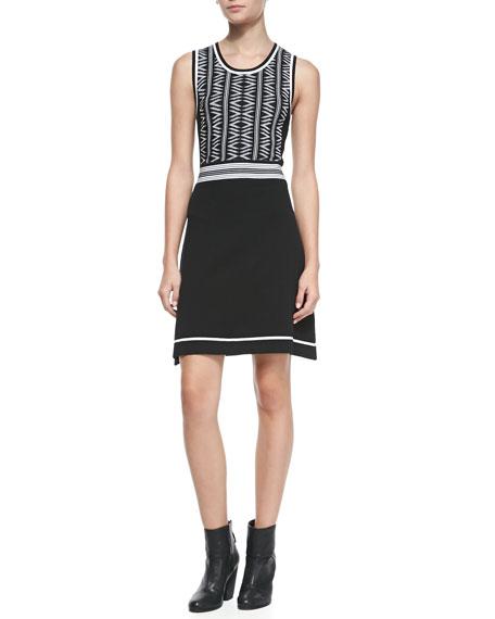 Erin Sleeveless Two-Tone Dress