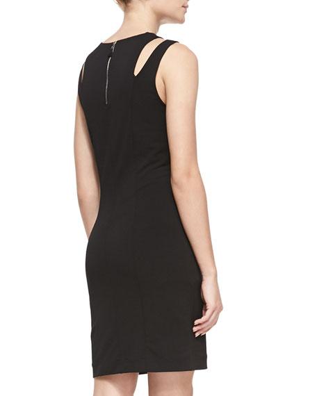 Vela Slit-Shoulder Jersey Dress
