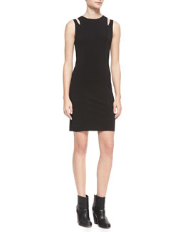 Rag & Bone Vela Slit-Shoulder Jersey Dress
